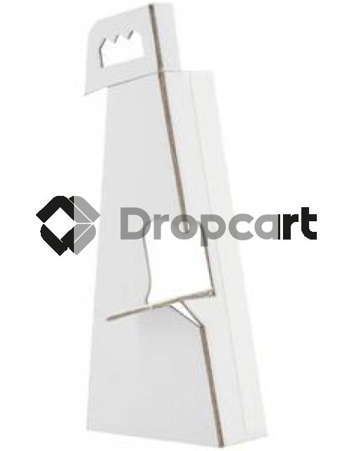 White label foamboard steun A3 178x190mm wit