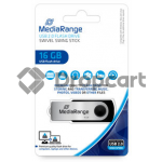 MediaRange USB flash drive 16GB zwart