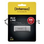 Intenso Alu Line USB stick 64GB zilver