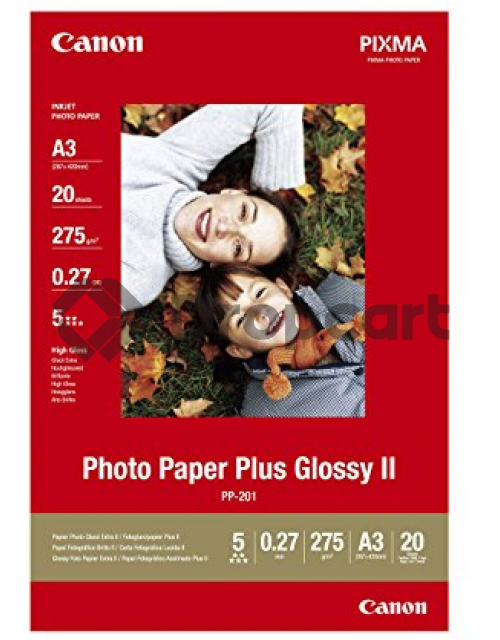 Canon A3, Photo Paper Plus Glossy II wit