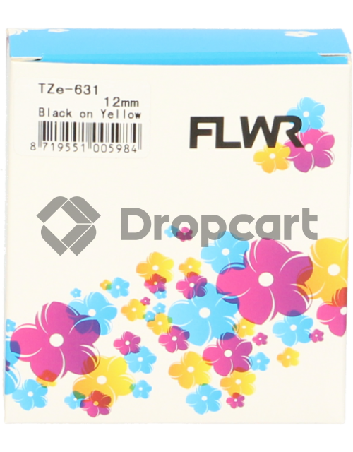FLWR Brother TZE-631 zwart (Huismerk)