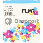 FLWR Brother TZE-211 zwart (Huismerk)