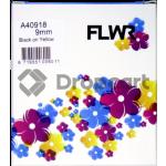 FLWR Dymo 40918 zwart (Huismerk)