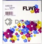 FLWR Dymo 45018 zwart (Huismerk)