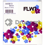 FLWR Dymo 43613 zwart (Huismerk)