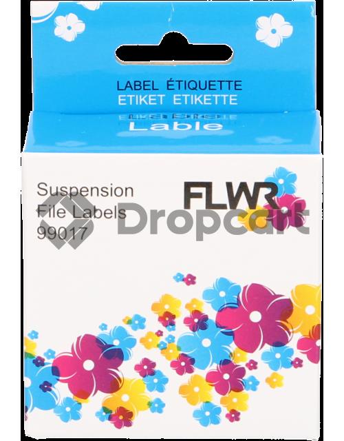 FLWR Dymo 99017 Hangmaplabel wit (Huismerk)
