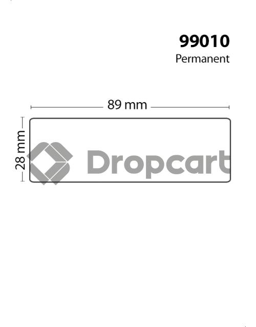 Dymo 99010 260pcs Adreslabel smal wit (Huismerk)