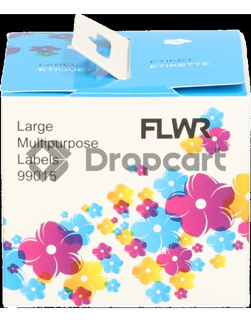 FLWR Dymo 99015 Adreslabel vierkant wit (Huismerk)