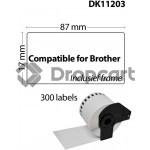 Brother DK-11203 wit (Huismerk)