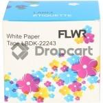 FLWR Brother DK-22243 wit (Huismerk)