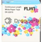 FLWR Brother DK-22210 wit (Huismerk)