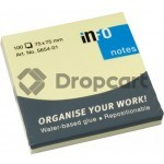 infoNotes Sticky Notes 75x75mm geel