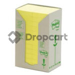 3M Post-it 38x51mm recycled 24-pack geel