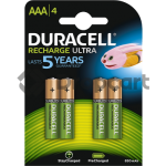 Duracell AAA Rechargeable, 900 mAh 4 stuks